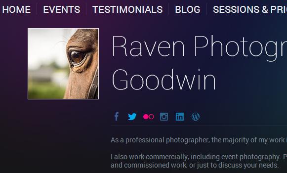 Raven Photography Website Screenshot