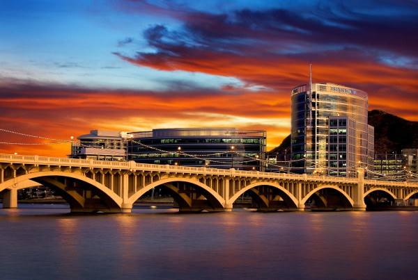 Tempe Arizona Skyline Sunset